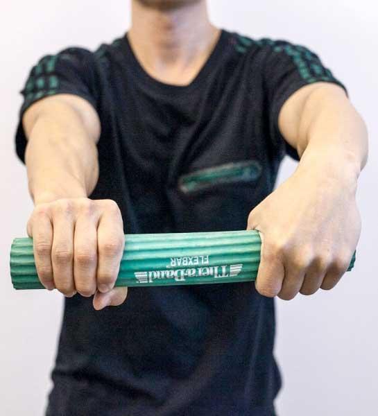 Esercizi epicondilite con flexbar