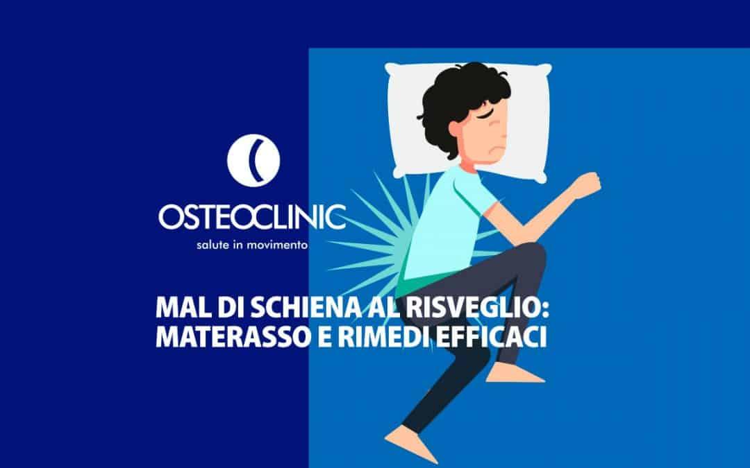 Mal di schiena al risveglio: materasso e rimedi efficaci